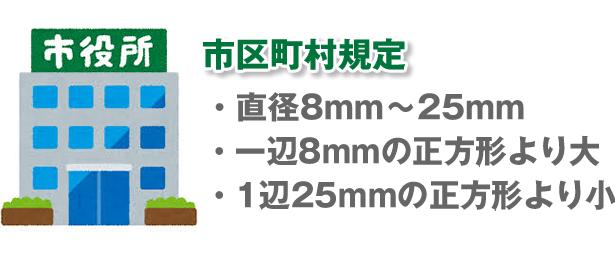 実印のサイズの規定
